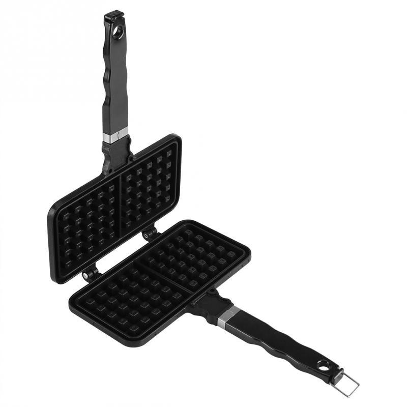 Image 4 - 1Pc Rectangle Shape Non stick Waffle Mold Baking Pan Making Tool Maker Press Plate Pan KitchenWaffle Makers   -