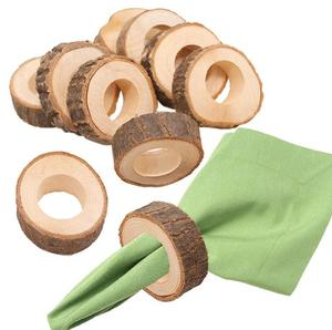 Натуральные креативные деревянные незавершенные Круглые Деревянные Подвески кольцо для салфеток для рукоделия для изготовления гостинич...