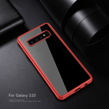 IPAKY Acrylic Transparent Case with Silicone Edge for Samsung Galaxy S10, S10 Plus, S10E