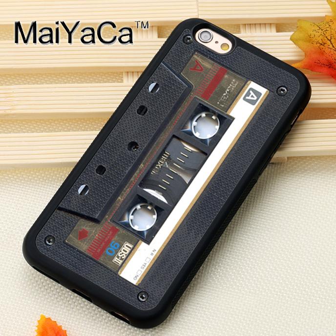 MaiYaCa Retro Gold Tape Cassette Printed Mobile Phone Cases Accessories For iPhone 6 6S Plus 7 8 Plus X 5S SE Soft Rubber Cover