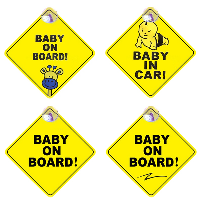 No3 Decal child on board blue Static Cling Baby on Board Window Car Sign