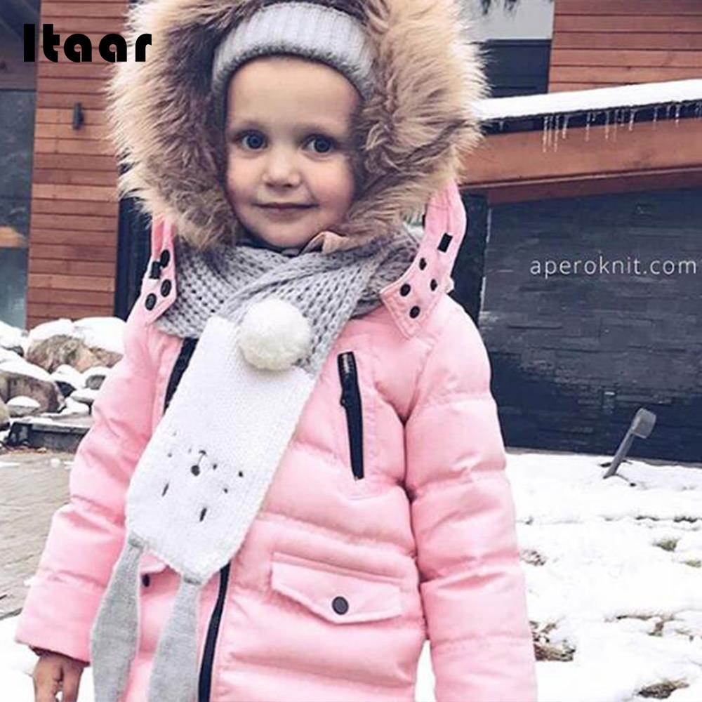 Rabbit Ears Scarf Baby Scarf Knitted Scarves Cute Fashion Knitted 6 Colors Kids Shawl Winter Keep Warm Neck Collar