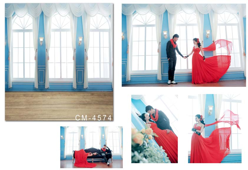 Blue Frame Bright Windows Wood Floor Photography Backdrops Background Wedding Photo Studio Newborn Baby Photo Props Custom Vinyl black and white grids floor photography background hollow vinyl photo backdrops for photo studio funds props cm 4785