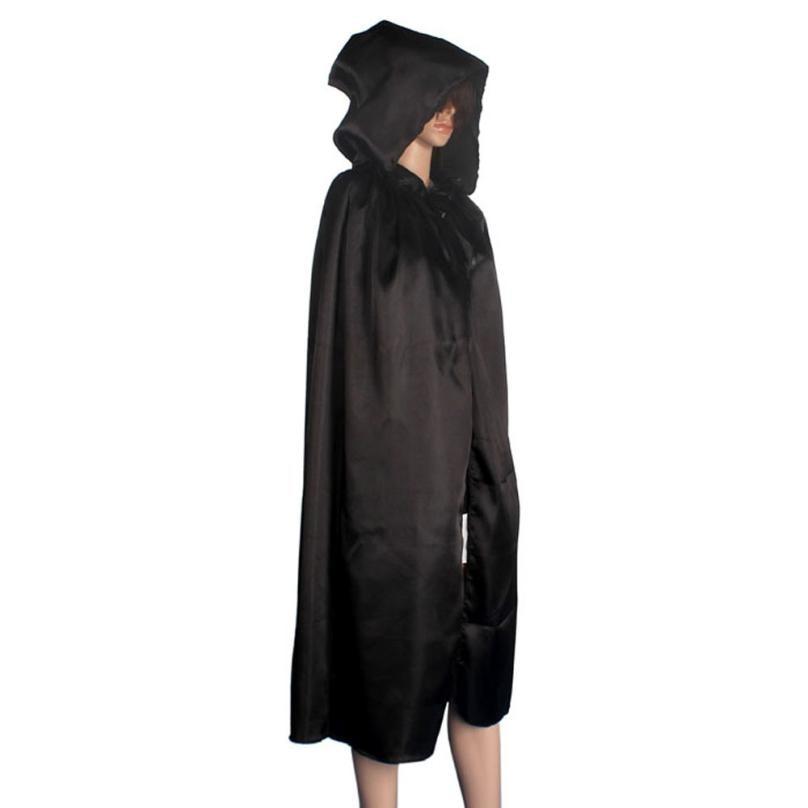 Keren Wanita Unisex Mantel Berkerudung Jubah Mantel Wicca Robe - Kostum - Foto 2