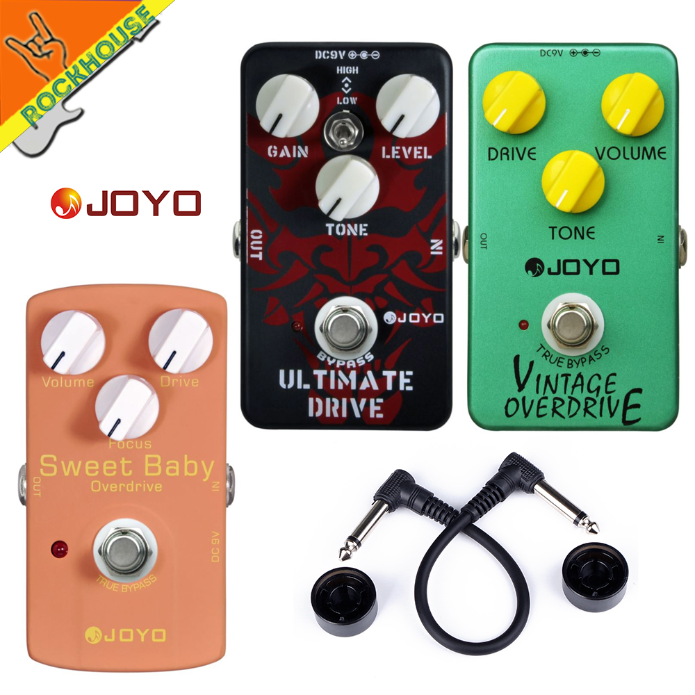 JOYO High gain Overdrive Pedal Guitar Effects Pedal high power Drive Booster Tube overload Stompbox True