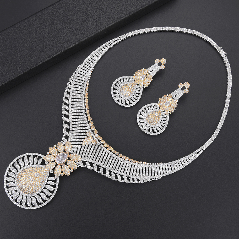 missvikki Hot Ethnic Full Cubic Zirconia Clear Crystal Big Round Pendant Necklace Earrings Jewelry Set Indian Africa Nigerian missvikki Hot Ethnic Full Cubic Zirconia Clear Crystal Big Round Pendant Necklace Earrings Jewelry Set Indian Africa Nigerian