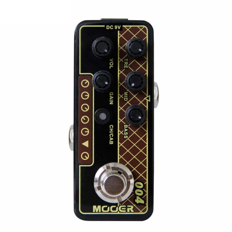 MOOER 004 Day Tripper Micro Preamp Guitar Effect Pedal with 2 Different Modes Dual Channel 3 Band EQ Gain and Volume Controls zоом 3 day white with acp excel 3