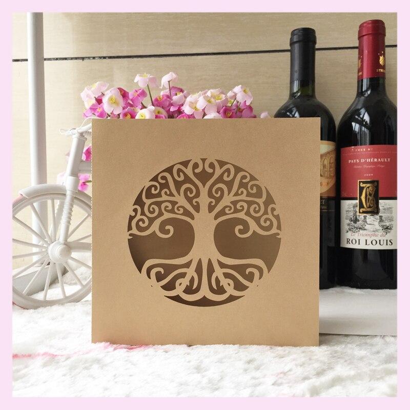 50pcs Lot Life Tree Design 90th Birthday Invitation