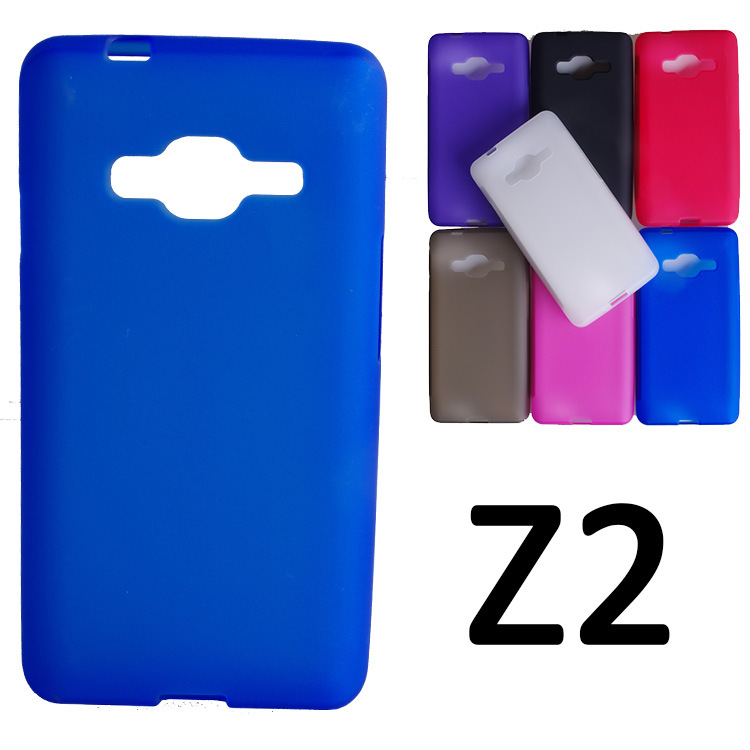 UVR For Samsung Galaxy Z2 Case Dual SIM Mobile Phone Bag Matte TPU Case Cover For Samsung Z200 Cover Shell Coque