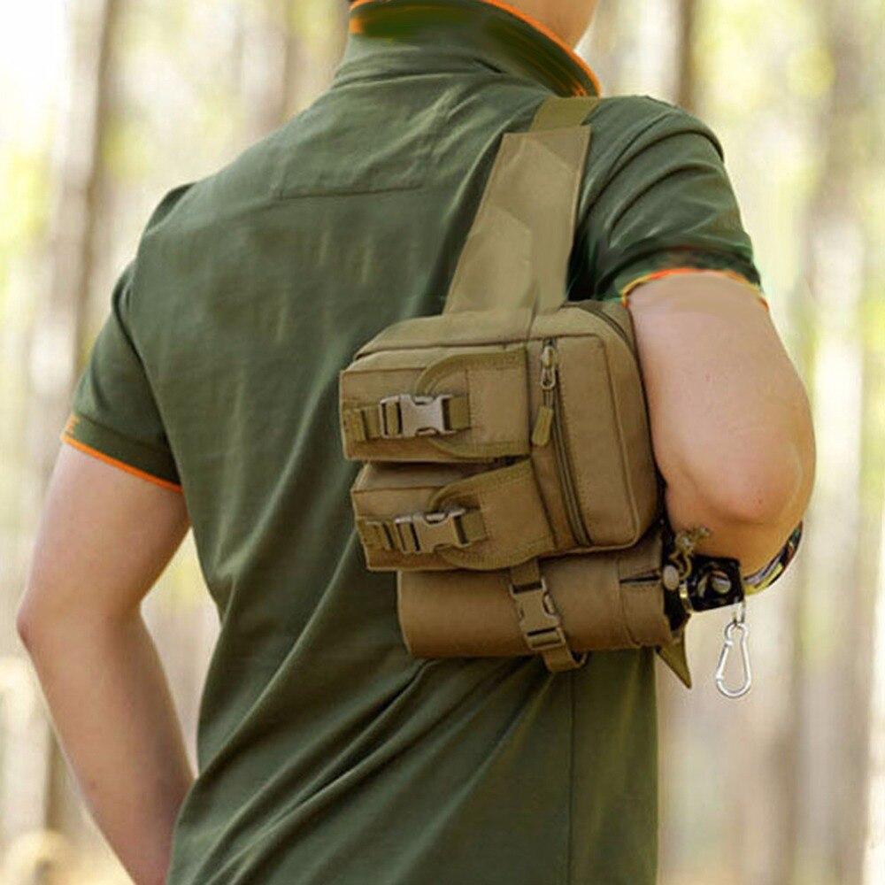 Haute Qualité Portable Militaire Molle Hanche Taille Ceinture Sac  Portefeuille Pochette Étanche Nylon Mobile Téléphone Portefeuille Voyage  Taille Pack 56dbcb23751