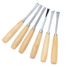 6 шт различные деревянные рабочее долото резьба инструменты