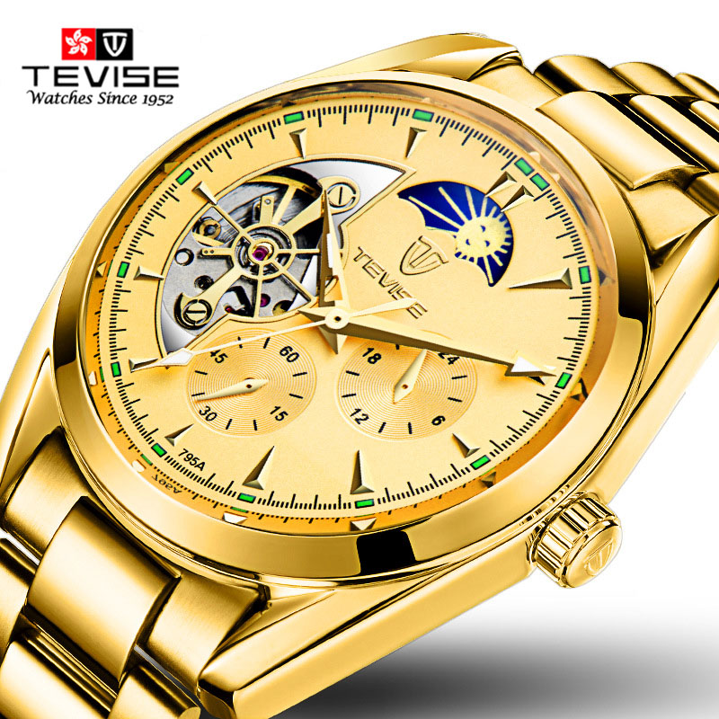 TEVISE Fashion Sport Automatic Mechanical Watch Men Top Brand Luxury Male Clock Wrist Watches for Men Relogio Masculino T795A tevise fashion sport automatic mechanical watch men top brand luxury male clock wrist watches for men relogio masculino t629b