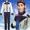 2015 disfraces de halloween para los hombres de nieve elsa anna Príncipe Hans Hans cosplay película adultos traje de abrigo