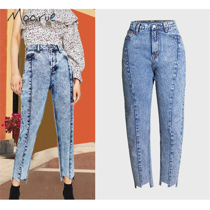 Autumn Snow Print BF Women Jeans High Waisted Stripes Ankle Length Fashion Female Denim Pants For Winter new autumn beadings bf women jeans high waisted pearls black jeans for ankle length boyfriend denim pants female