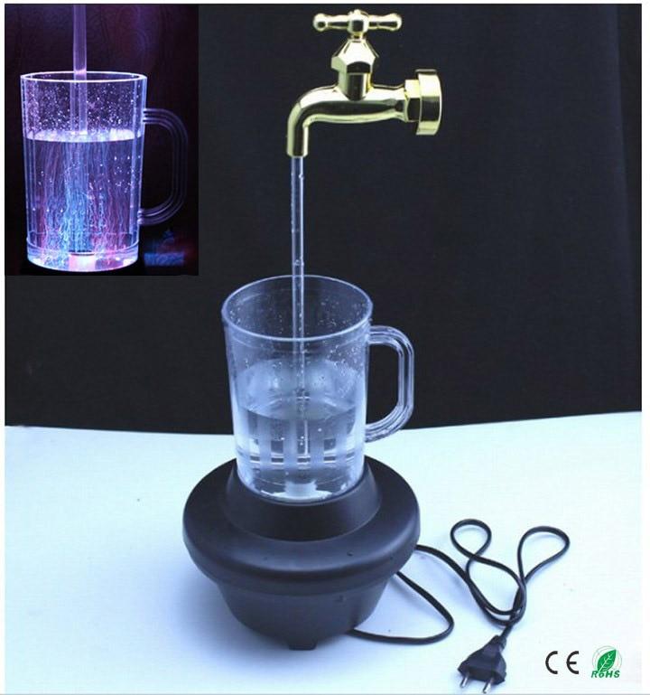 Robinet magique lumières de course cadeau de vacances coloré robinet magique lumières de course lampe de colonne d'eau; fontaine de robinet magique; lampe à LED