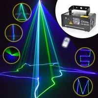 Remote 8 CH DMX Mini Green Blue Cyan GBC 200mW Laser DPSS Stage Lighting Scanner DJ Party Show LED Projector Light