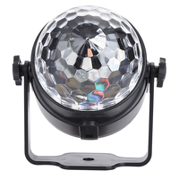 Oobest 3W DJ Light Multi Color Changing Sound Actived Crystal Magic Mini Disco Ball Led Stage