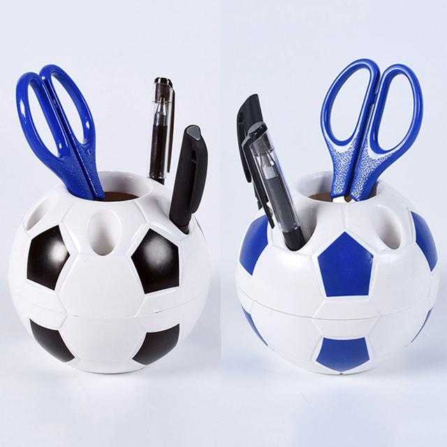 Multifunction Soccer Shaped Holder Football Shape Makeup Brush Holders Desk Table Home Office Bedroom Decoration Supplies