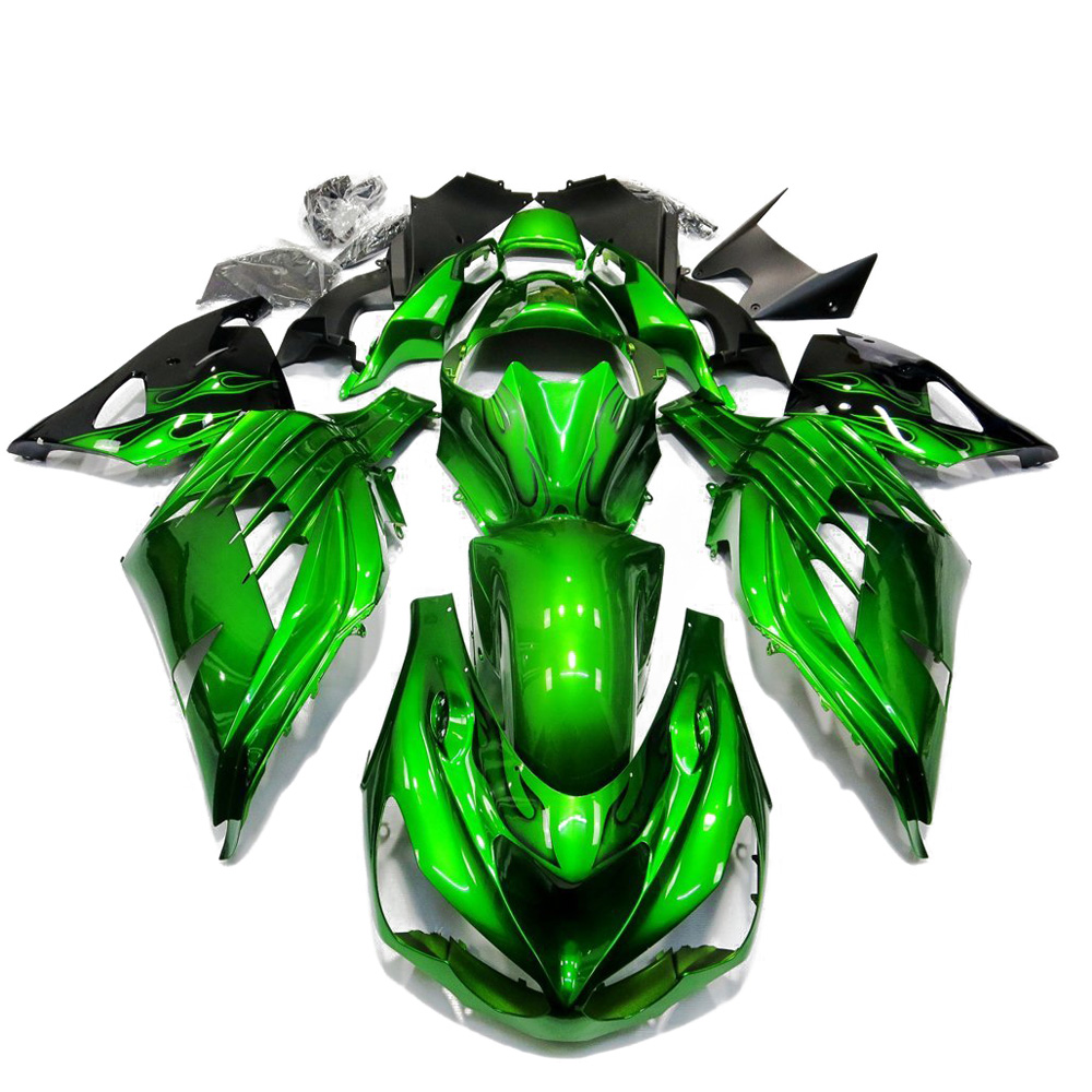 For Kawasaki Ninja ZX14R ZZR1400 12   15 Bodywork Injection Molded Fairing ZZR 1400 ZX 14R ZX 14R 2012 2013 2014 2015 13 14-in Full Fairing Kits from Automobiles & Motorcycles    1