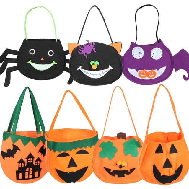 Múltiples formas de Halloween diseño lindo de la historieta bolsas ...