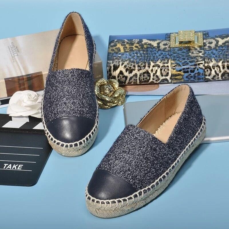 Stkehidba 뜨거운 가죽 신발 여성 슬립 espadrilles 여성 편안한 라운드 발가락로 퍼 플랫 숙 녀 캐주얼 플랫 신발 34 42-에서여성용 플랫부터 신발 의  그룹 3