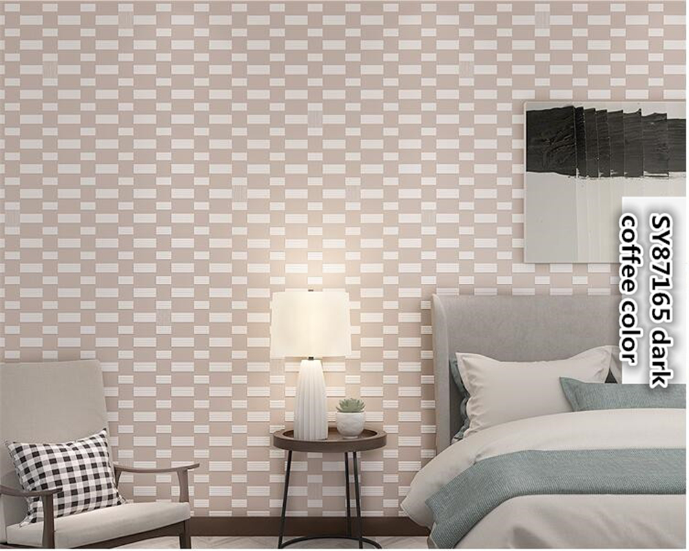 beibehang Modern fashion simple non-woven wallpaper bedroom living room TV papel de parede 3d wallpaper square wall paper tapety beibehang mediterranean blue striped 3d wallpaper non woven bedroom pink living room background wall papel de parede wall paper