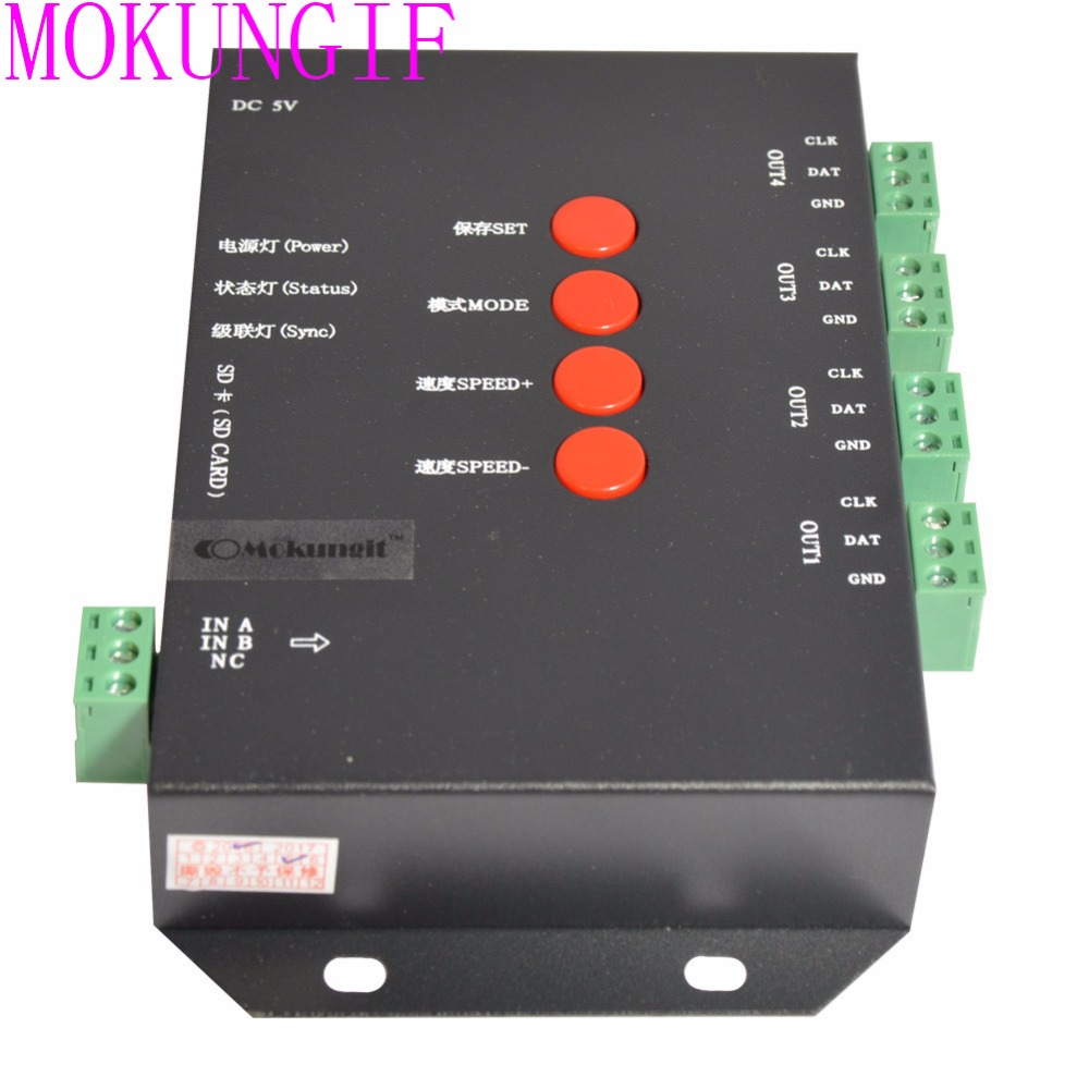 T-4000s Controller Sd Card Led Controller T4000 With Max 1024 Pixel Every Port For Ws2811 Ws2801 Ws2803 Lp6803 Lights & Lighting Rgb Controlers