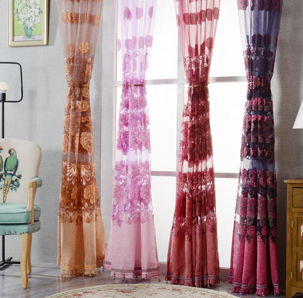 novos chegada de moda cortinas da janela do quarto romntico cor slida barato painis de