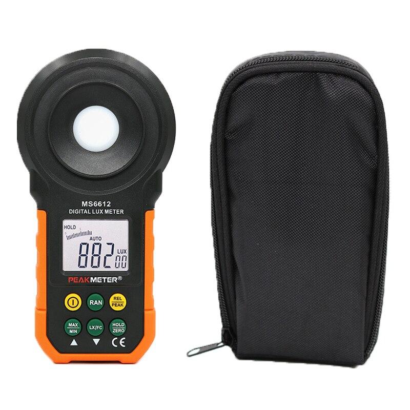 SM6612 numérique Lux mètre 200,000 Lux lumière mètre Test spectres gamme automatique haute précision numérique luxmètre illuminomètre
