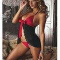 Novo Deslizamentos Sexy Lingerie Brinquedos Sleepwear Vestido Uniforme Traje Erótico Feminino Camisola Transparente Sexy Mulheres Charme Arco