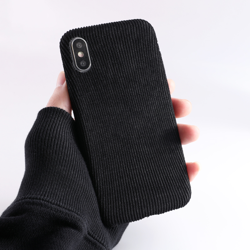 SoCouple Plush Fabrics Phone Case For iphone X 7 8 6 6S plus Case For iphone Xs max XR Cloth Texture Soft Back Cover Capa Fundas (7)