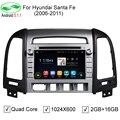 ROM 16GB Quad Core Pure Android 5.1.1 Car DVD Radio For Hyundai Santa Fe 2006-2012 Android 5.1 Stereo GPS Navigation DVR OBD