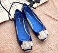 Nueva Llegada de la Alta Calidad Superventas de Las Mujeres Zapatos Planos Ocasionales Señora Planos de La Manera Más Tamaño Calzado EUR34-43 V011-2