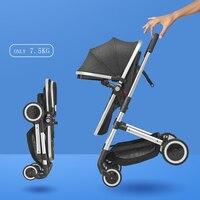 Роскошная детская коляска 2 в 1 легкая детская коляска складная коляска детская тележка детская коляска