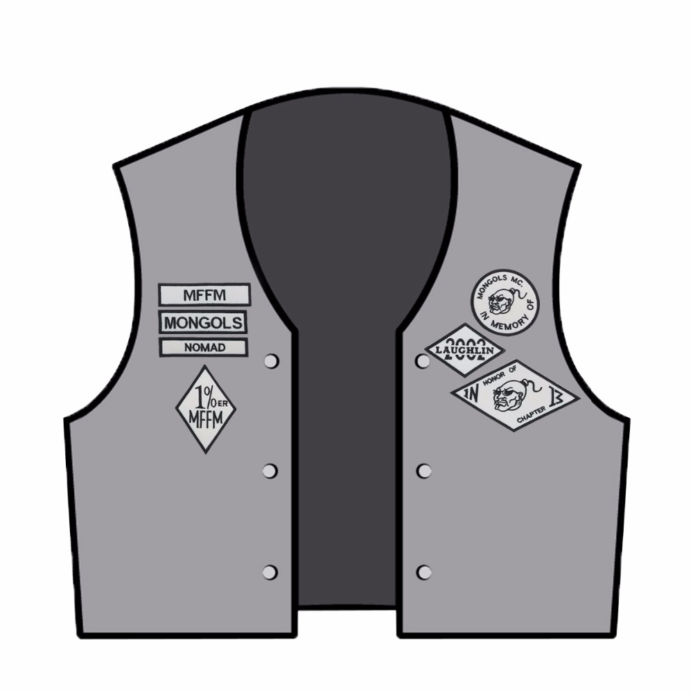 Image 2 - Mongols MC Patches Biker Back Nomad Rocker Patch Free Rider Motorcycle Embroidered Jacket Vest Badge Back Size Iron On-in Patches from Home & Garden