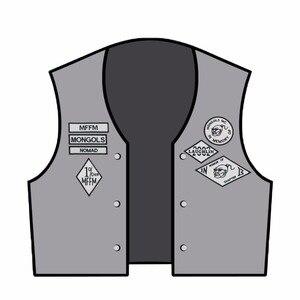 Image 2 - Mongols mc colete bordado nomad rocker, jaqueta para motociclistas, motociclista, costas, tamanho traseiro