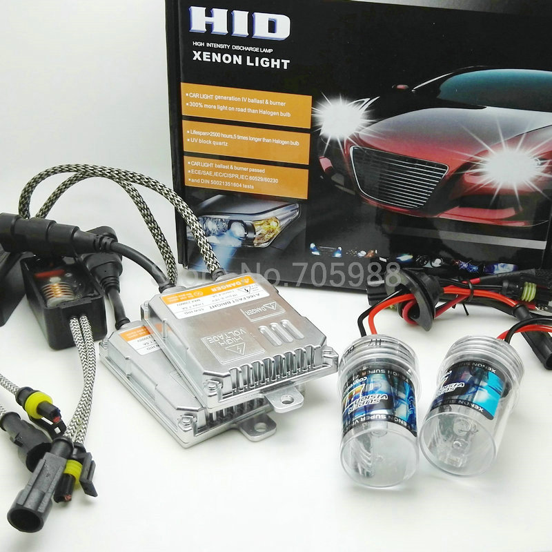 ФОТО 2 Years Warranty 55W 12V AC Xenon HID Kit Quick Start H8 H1 H3 H7 H9 H11 9005 9006 4300K 6000K Metal Ballast Headlight Source