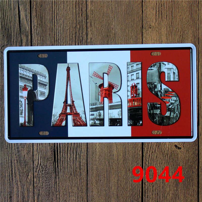 15 * 30 CM Ευρωπαϊκή Πόλη Newyork Παρίσι - Διακόσμηση σπιτιού - Φωτογραφία 3