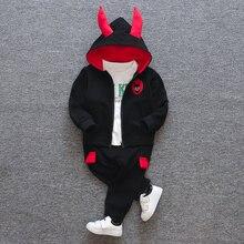 מוצרים חדשים תינוק בגדי בגדי ילדים חליפת כותנה מוצרים עבור בני שלוש חתיכה סטי אביב ובסתיו ילדי סטים
