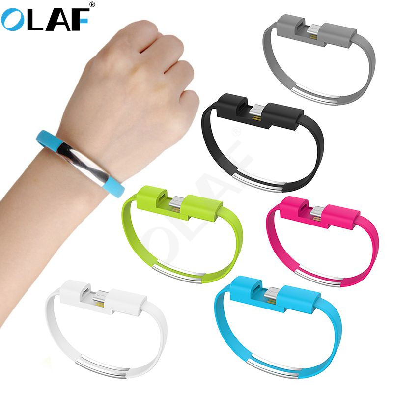 OLAF Outdoor Portable Mini Micro USB Bracelet Charger Data Charging Cable Sync Cord For Samsung Xiaomi Hauwei Type C Phone Cable