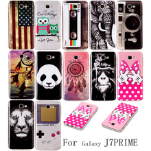 Phone Etui For Coque Samsung Galaxy J7 Prime Case Luxury Panda Silicone Soft TPU Back Cover For Samsung J7 Prime Housing Capinha