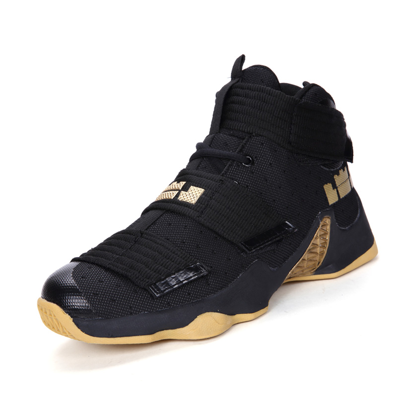2019 Men's High Quality Sports Shoes Brand Outdoor Non-slip High Top Adult Tennis Shoes Luxury Breathable Basketball Shoes image