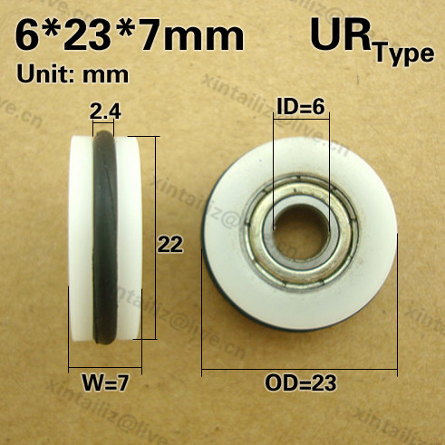 UR0623 7]Free Shipping O type rubber ring low noise roller wheel ...