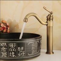 Free Shipping High Arch New Deck Bathroom Basin Sink Mixer Tap Polished Antique Bronze Basin Faucet Bathroom Faucet Sink Tap