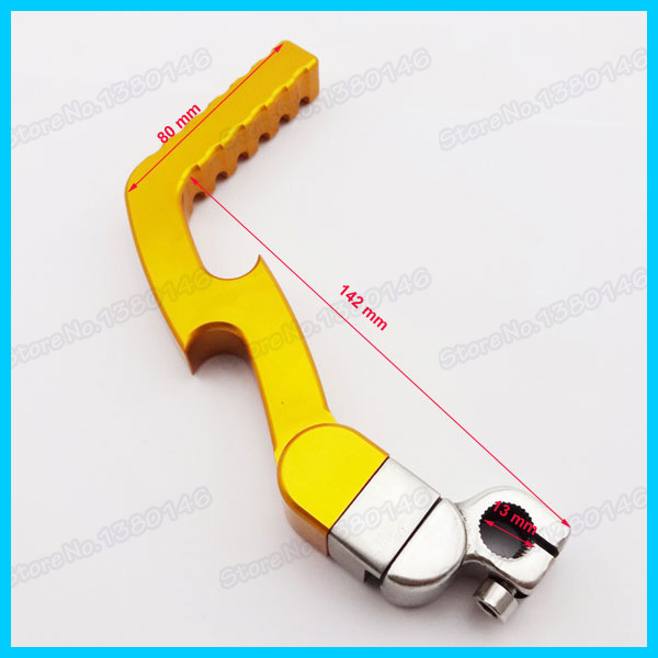 US $25 28 11% OFF|Gold CNC Kick Start Starter Lever For 50cc 110cc 125cc  Thumpstar SSR Pit Dirt Bike Motocross Scooter Go Kart CRF XR50-in Levers,