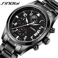 SINOBI Sports Multifunction Quartz Watch Men's Top Luxury Brand Stainless Steel Band Clock Male Chronograph Clock Boy Wristwatch