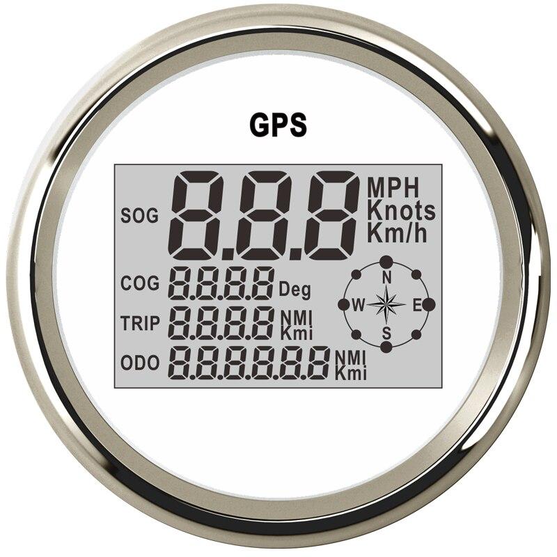 85mm Car Boat Digital GPS Speedometer Odometer 0 999 knots km h mph 12V 24V with