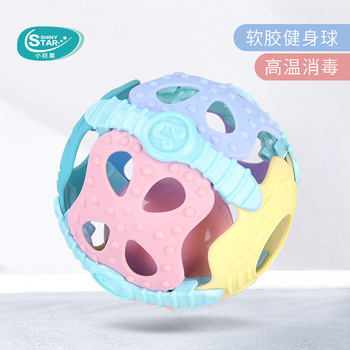 Baby Molars Toy Fun Little Loud Bell Ball Baby Ball Toy Rattles Develop Baby Intelligence Baby Activity Grasp Hand Bell Rattle boys girls baby activity toy fun little loud ball toy rattles develop baby intelligence grasping toy molar hand bell rattle