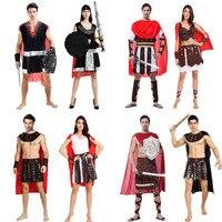 2018 אוהבי מבוגרים יוון העתיקה לוחם רומא אספקת שמלת Cosplay תלבושות ליל כל הקדושים תלבושות ביצועים פורים