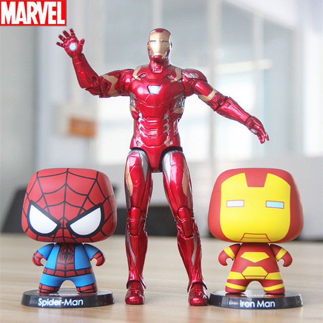Disney Avengers Action Figure Thor Hulk Spiderman Iron Man Captain America Toys Gifts for Children Adult Decor Collect Cute